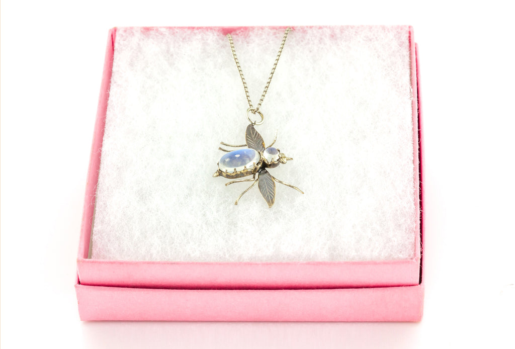 Antique Moonstone Insect Pendant c.1900