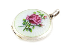Art Nouveau Enamel Guilloche Locket