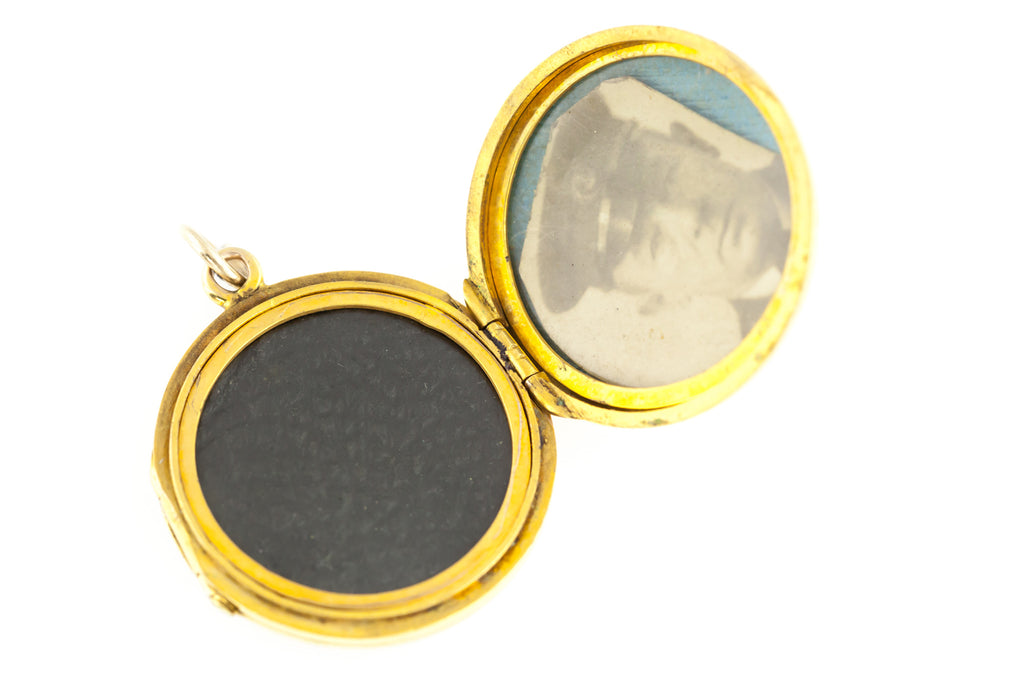 "Rare Antique 9ct Gold ""Family"" Locket & Chain c.1900"