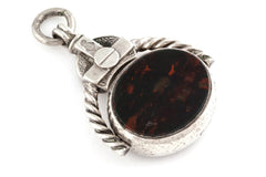 Antique Victorian Silver Swivel Fob Pendant - Hallmarked 1898
