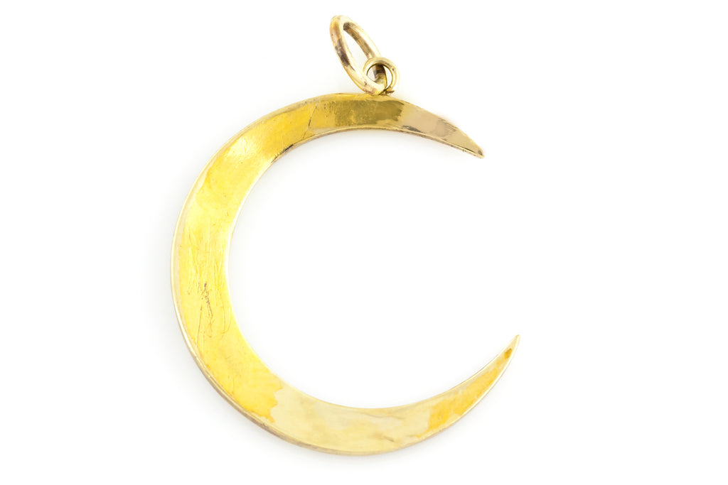 Antique Crescent Moon Pearl Pendant c.1905
