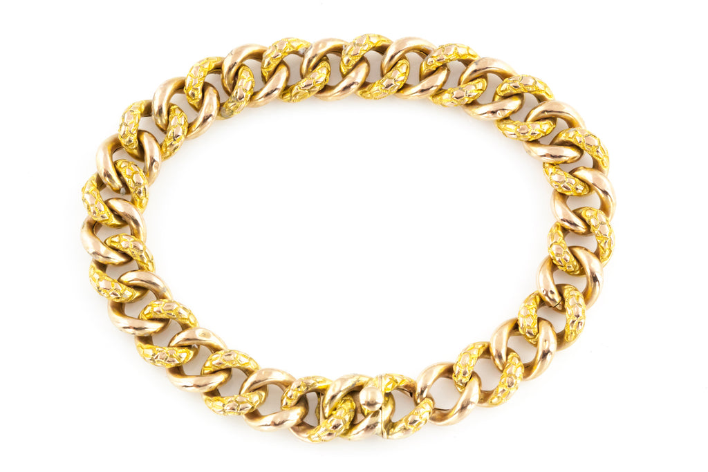 Antique French 18ct Yellow Gold Bracelet c.1850
