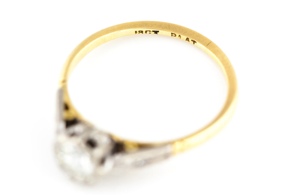 18ct Gold Edwardian Diamond Ring (0.40ct) c.1905