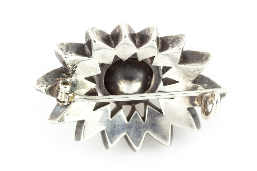 Georgian Silver Paste Flower Brooch c.1830