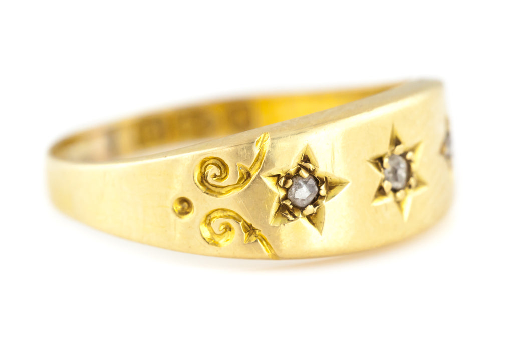 "18ct Gold Diamond ""Gypsy"" Ring - Hallmarked 1894"
