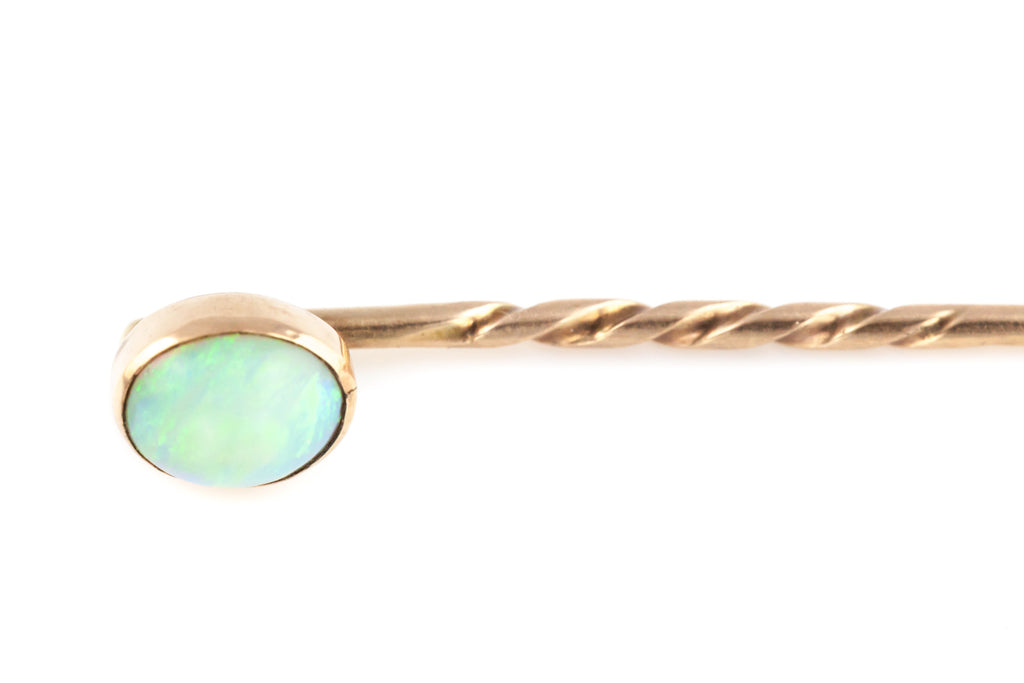 Antique Opal and 15ct Rose Gold Stick Pin