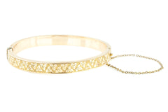 Victorian Revival Gold Plated Bangle c.1970