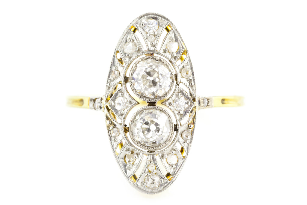 Exquisite 18ct Gold Art Deco Diamond Ring (1.01ct) c.1920