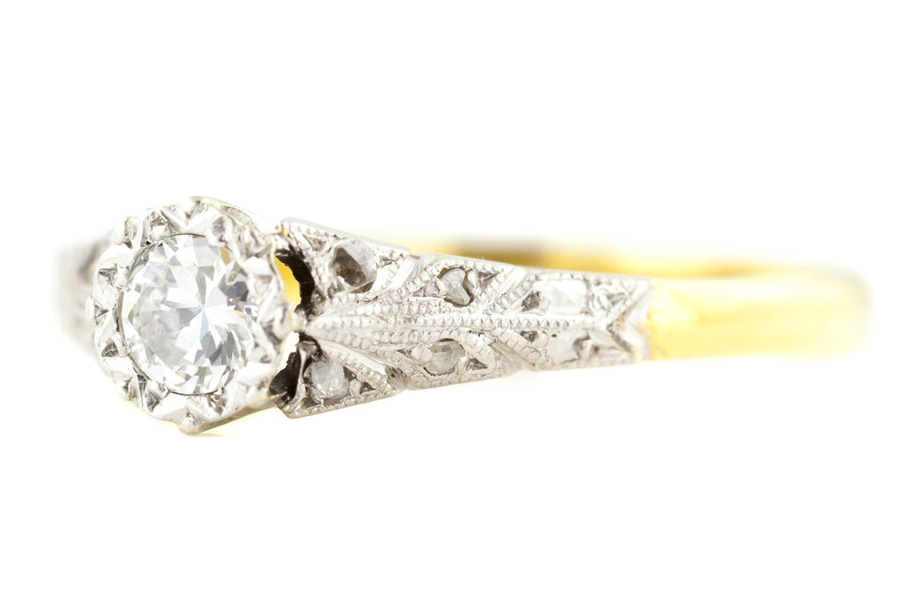 Art Deco Solitaire Diamond Engagement Ring c.1920