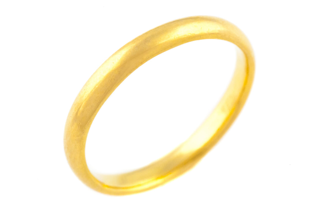 Antique Victorian 22ct Gold Wedding Band c.1859