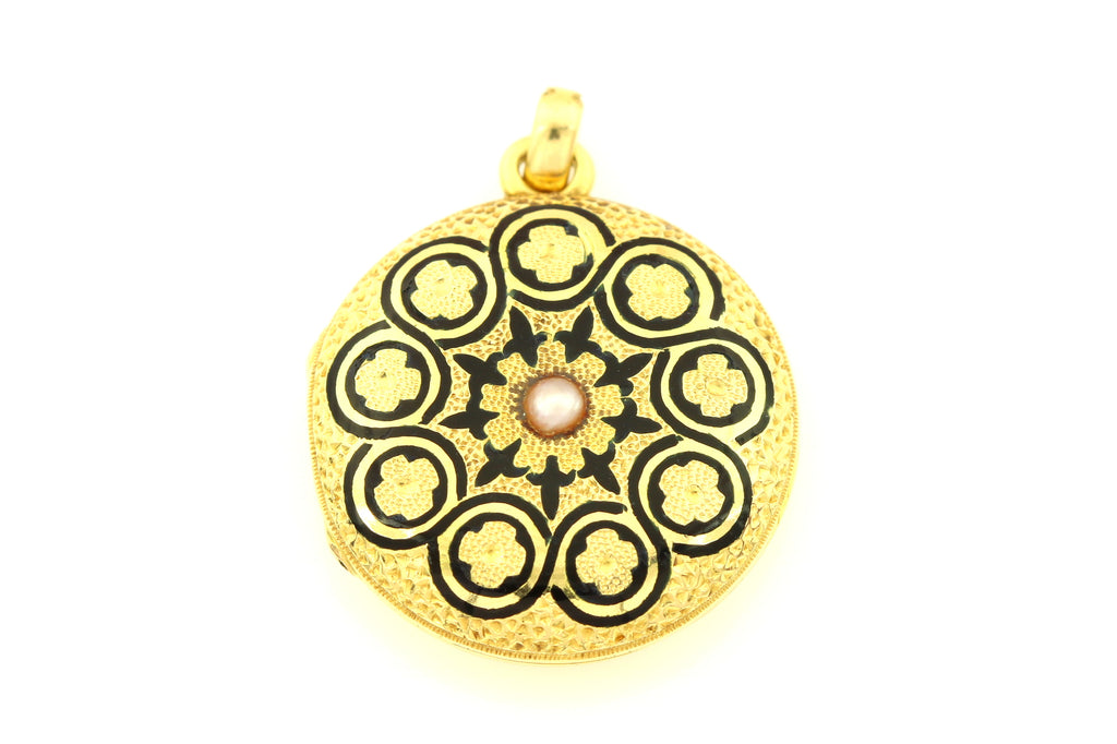 18ct Gold Victorian Mourning Locket