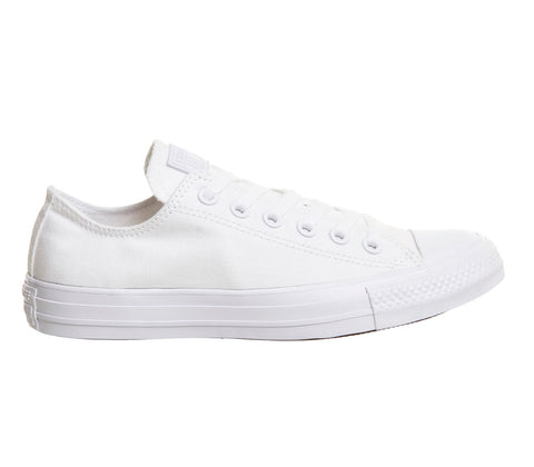 converse all star all white low canvas