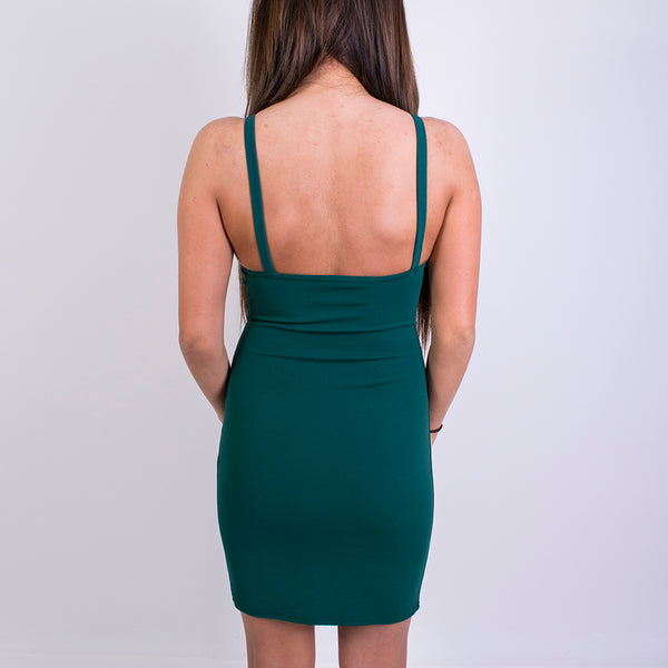 hannah eyelet body con dress cr122 green