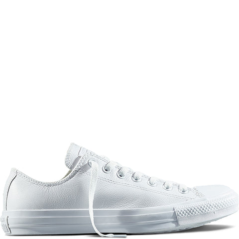 converse all star all white leather low