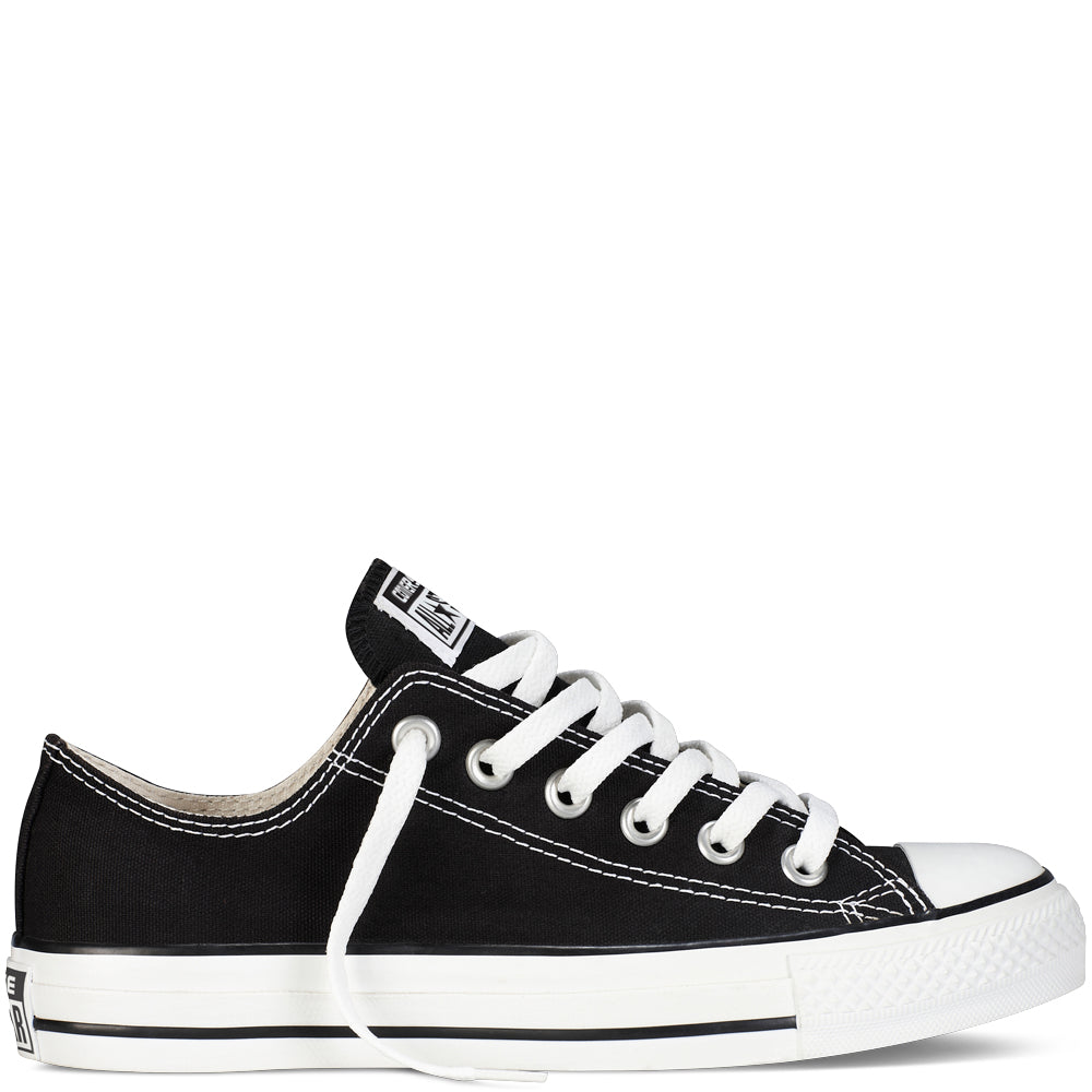 converse all star black low canvas