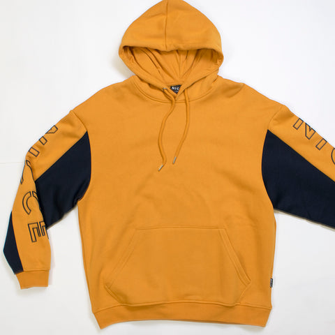 nicce contrast hood golden yellow/navy