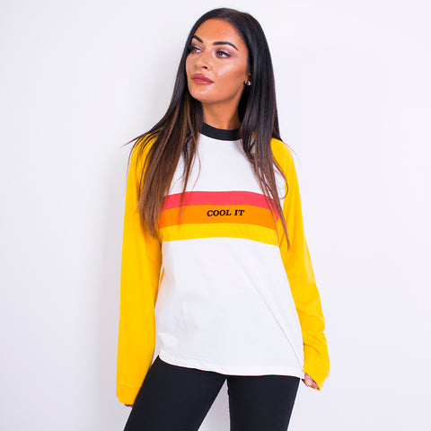 cool it raglan tee yellow/red/orange