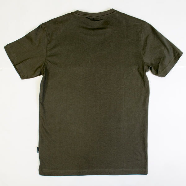 nicce chest logo t-shirt olive