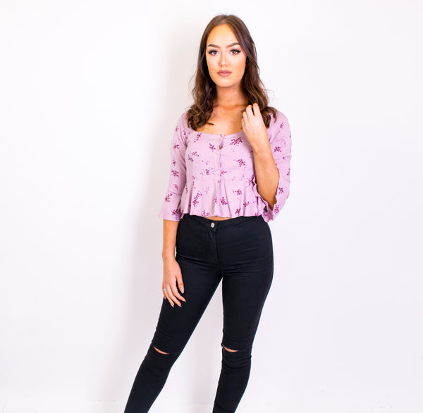 cavali forget me not top lilac floral