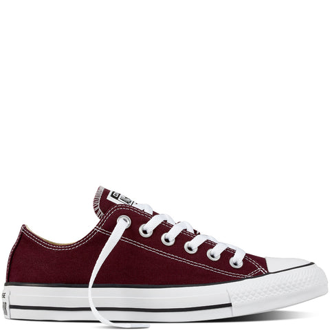 converse all star maroon low canvas