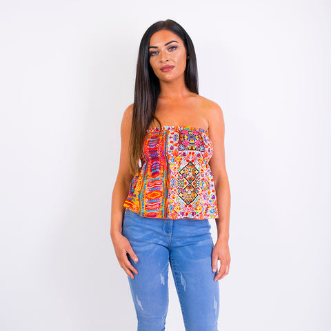 terri floral crop top rainbow 16t39