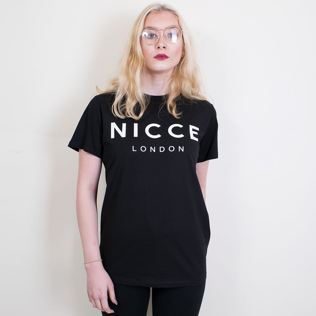NICCE BIG PRINT TEE BLACK
