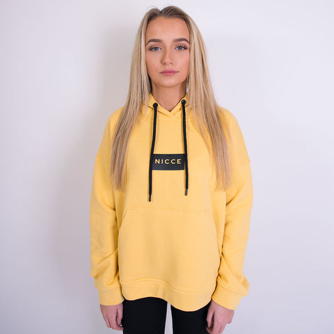 nicce ren patch hoody yellow