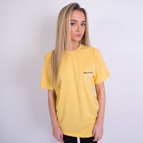 nicce split logo tshirt yellow