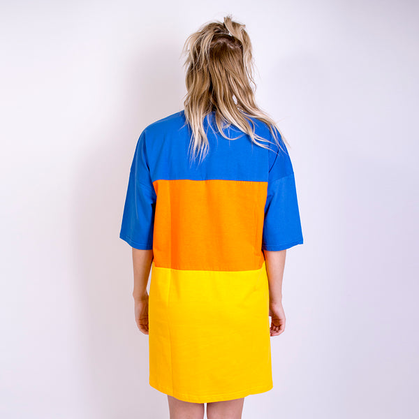 opal dress blue/orange/yellow