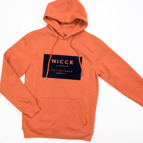 nicce mmxii hoody burnt orange