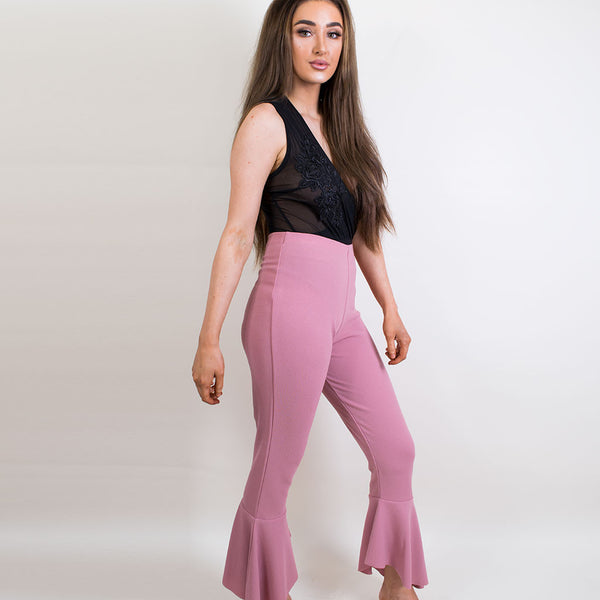 megs fishtail trousers rose 11065