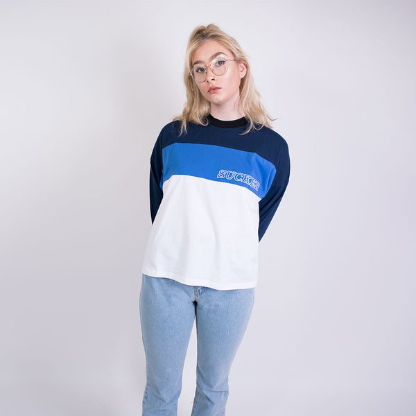sucker tee blue/white