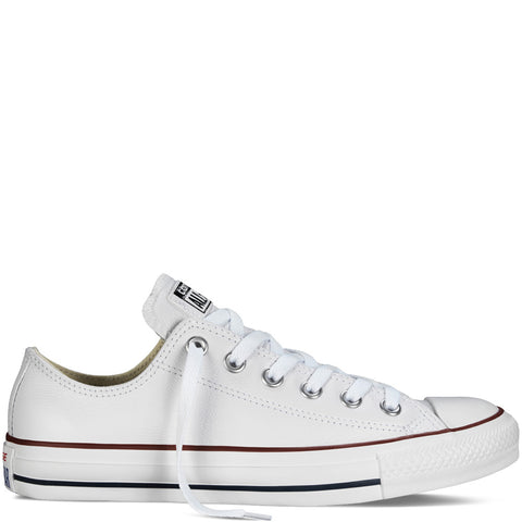 converse all star white leather low