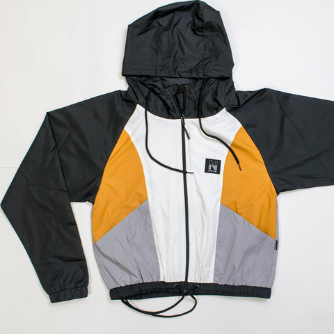 nicce volley wind jacket golden yellow/grey/white