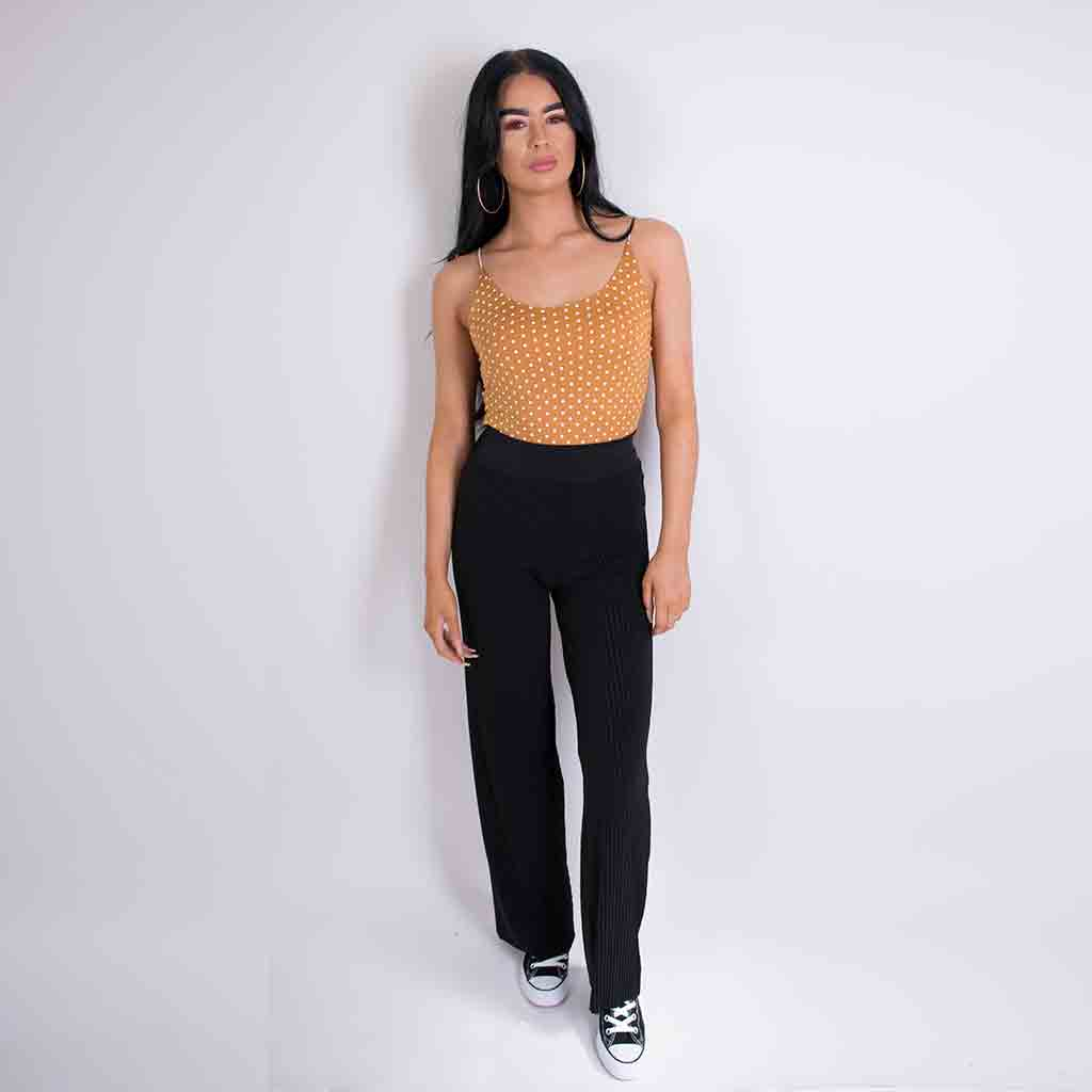 georgia crinkle trousers black