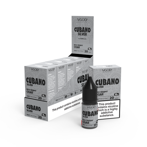 Cubano Silver VGOD Salt Nic E-Liquid 10ml