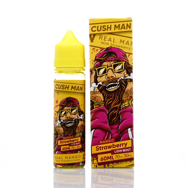 Strawberry Cush Man Series Low Mint by Nasty Juice Short Fill 50ml