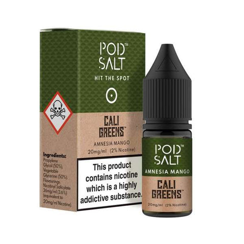 Amnesia Mango Nicotine Salt E-Liquid by Pod Salt
