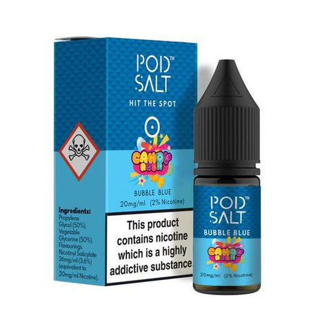 Bubble Blue Nicotine Salt E-Liquid by Pod Salt