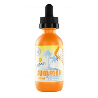Summer Holiday - Sun Tan Mango Shake N' Vape by Dinner Lady - QuickNic Ready 50ML