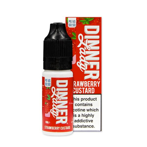 Strawberry Custard 50/50 E-Liquid by Dinner Lady 10ml