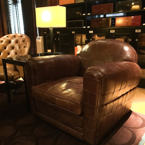 Cigar And Club Chair Heaven... Featured Is The BFelix Lanceros In Brown  Leather Patchwork At The Cigarro Hong Kong. For The Cigar Connoisseur, This  Is It.