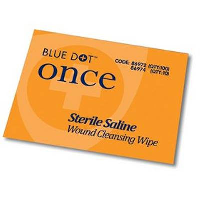 Blue Dot Sterile Saline Wound Cleansing Wipes