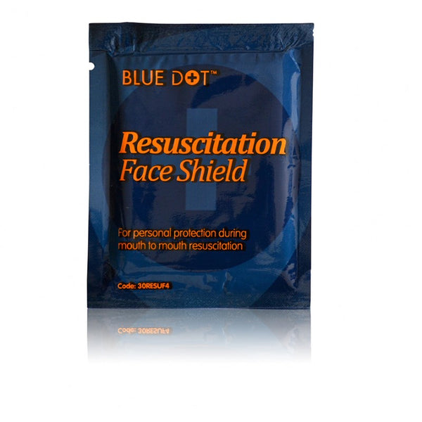 Blue Dot Resuscitation Face Shield Foil Pack