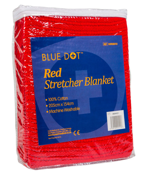 Blue Dot Red Stretcher Blanket 152cm x 203cm