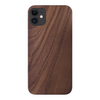 iPhone 12 Case. Real Natural Walnut Wood. Minimalistic Design.