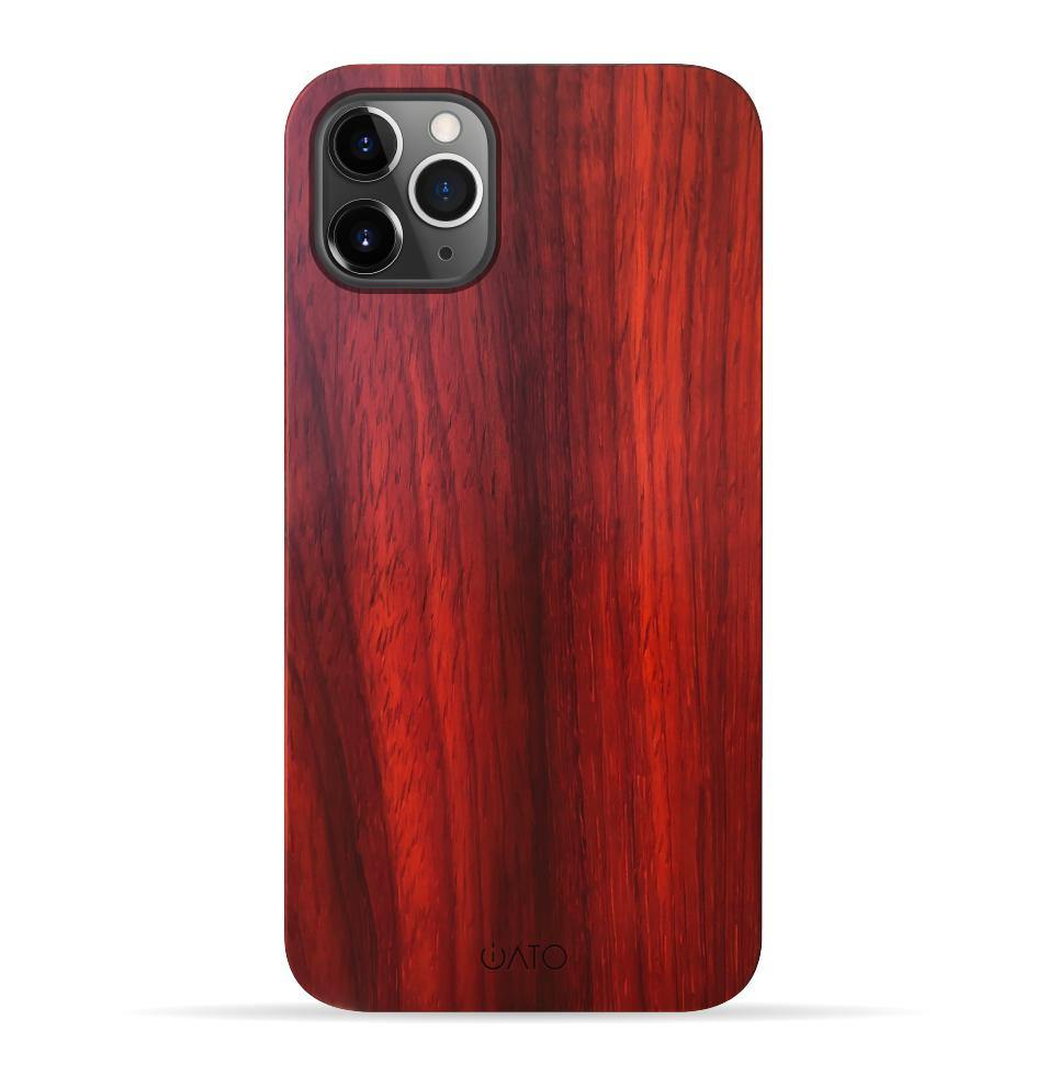 iPhone 11 Pro Max Case. Real Natural Rose Wood. Minimalistic Design. - iATO Awesome Accessories