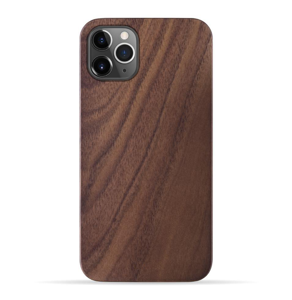 iPhone 11 Pro Max Case. Real Walnut Wood. 360 Protection. - iATO Awesome Accessories