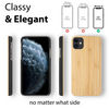 iPhone 12 Case. Real Natural Bamboo Wood. Minimalistic Design. - iATO Awesome Accessories