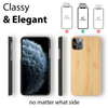 iPhone 12 Pro Case. Real Natural Bamboo Wood. Minimalistic Design. - iATO Awesome Accessories